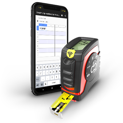 DataPro Tools phone app with tape measure